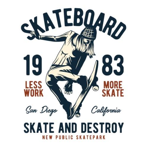 Skateboard 1983 - Männer Premium T-Shirt