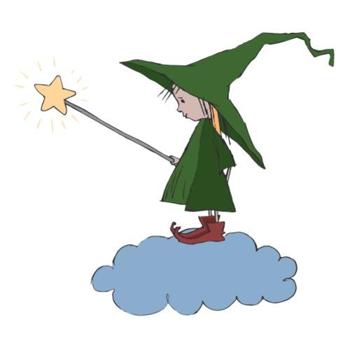 Green Witch at a Cloud - Männer Premium T-Shirt