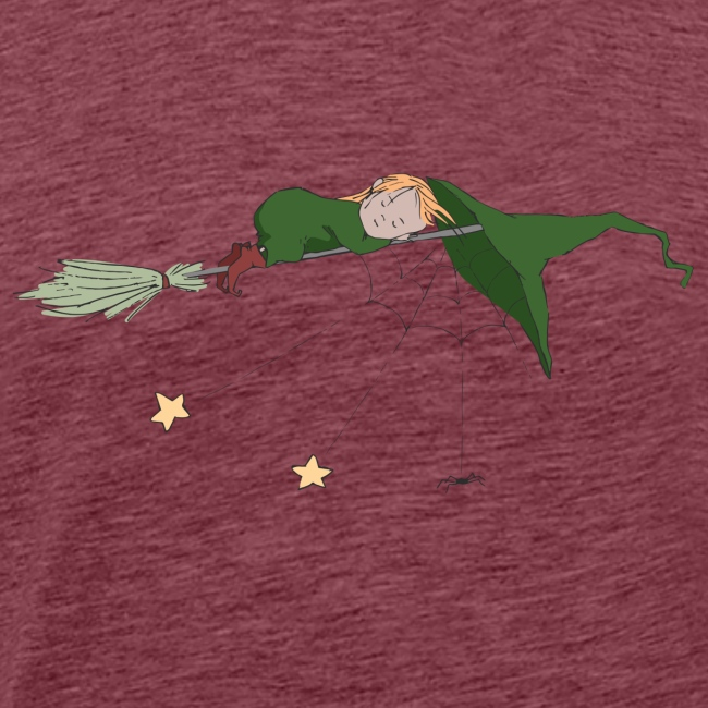 Green Witch sleeping with Spider