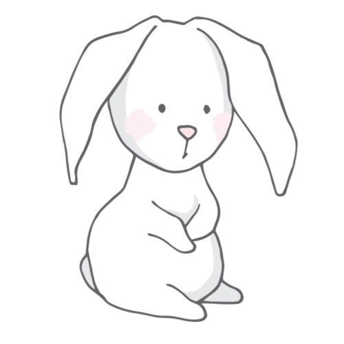 Cute Rabbit Baby - Männer Premium T-Shirt