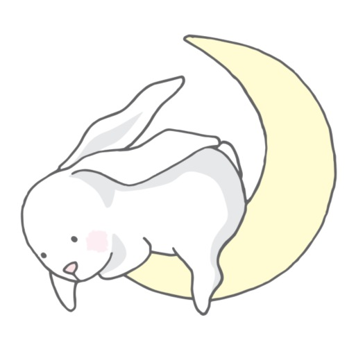 Rabbit at the Moon - Männer Premium T-Shirt