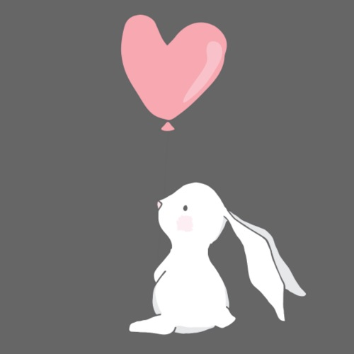 Rabbit with Heart Balloon - Männer Premium T-Shirt