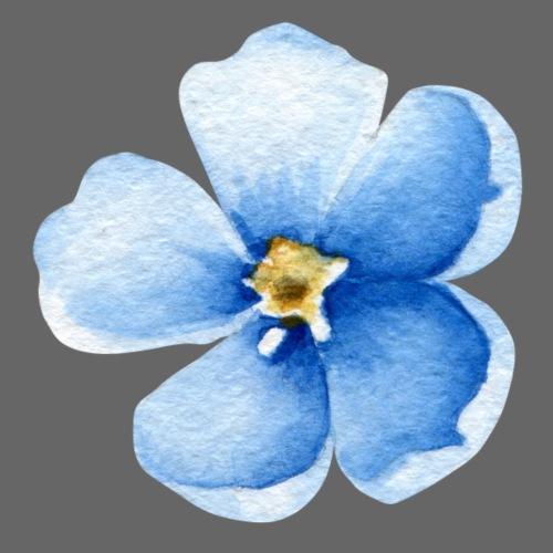 Blue Flower - Männer Premium T-Shirt