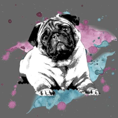 Pug watercolor - Männer Premium T-Shirt