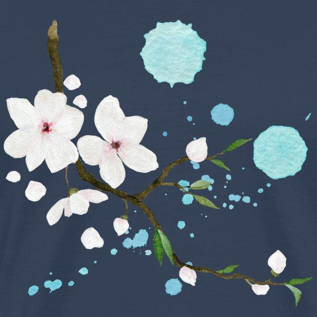 Apfelbluete Zweig Blau