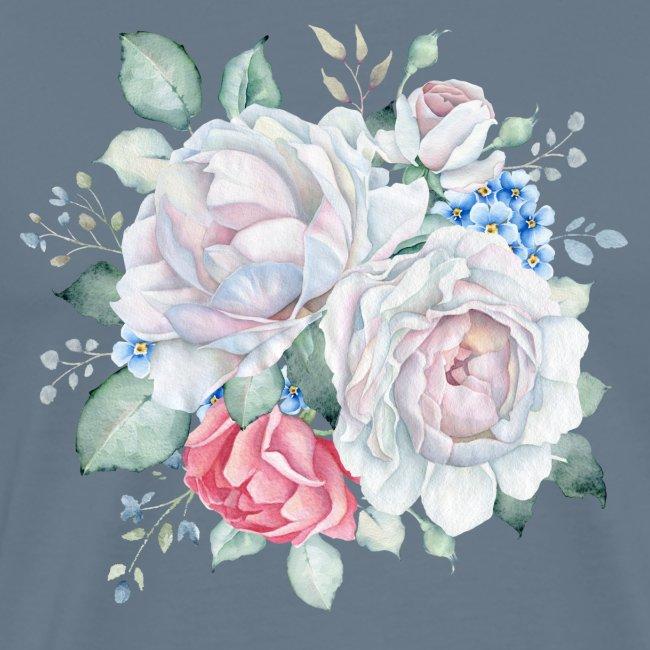 Rosen und Vergissmeinicht