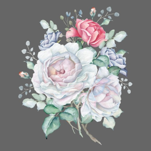 White and pink Roses - Männer Premium T-Shirt
