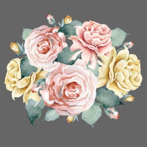 Rosen Bouquet - Männer Premium T-Shirt