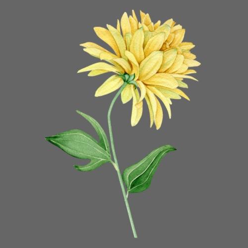 Gelbe Blume Wasserfarbe - Männer Premium T-Shirt