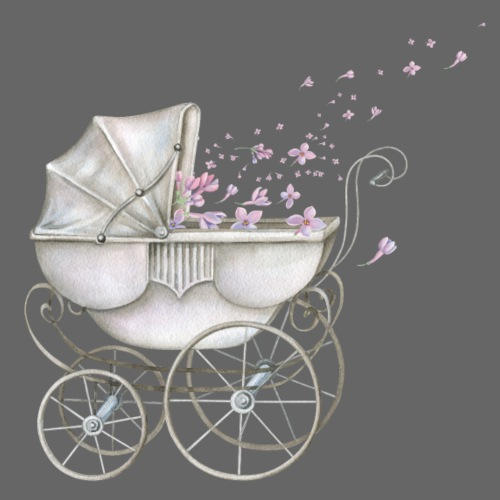 Baby Carriage pink Flowers - Männer Premium T-Shirt