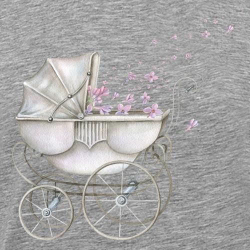 Baby Carriage pink Flowers - Männer Premium T-Shirt