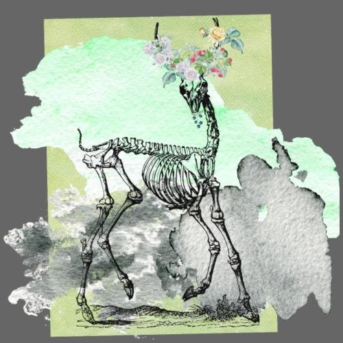 Flowery Deer Skeleton - Männer Premium T-Shirt
