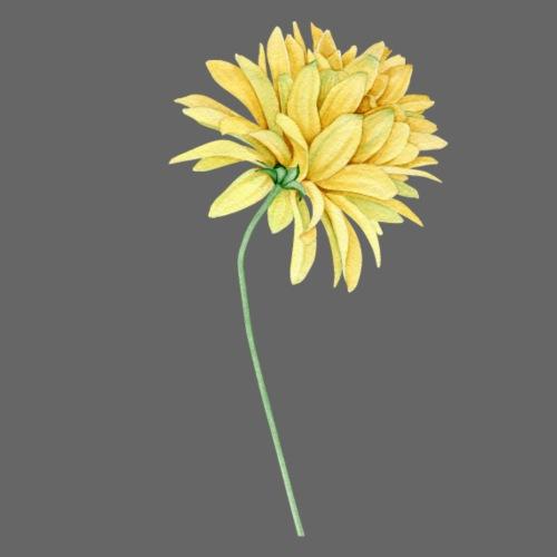Yellow Flower Watercolor - Männer Premium T-Shirt
