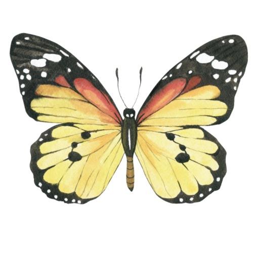 Yellow Watercolor Butterfly - Männer Premium T-Shirt