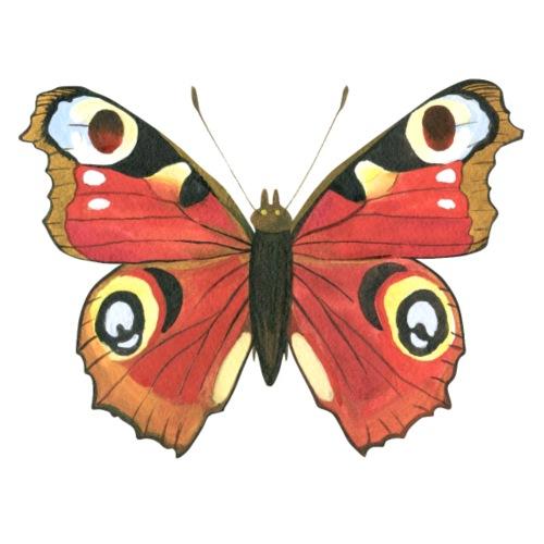 Tagpfauenauge Butterfly - Männer Premium T-Shirt
