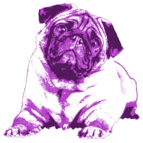 Lilac Pug - Männer Premium T-Shirt