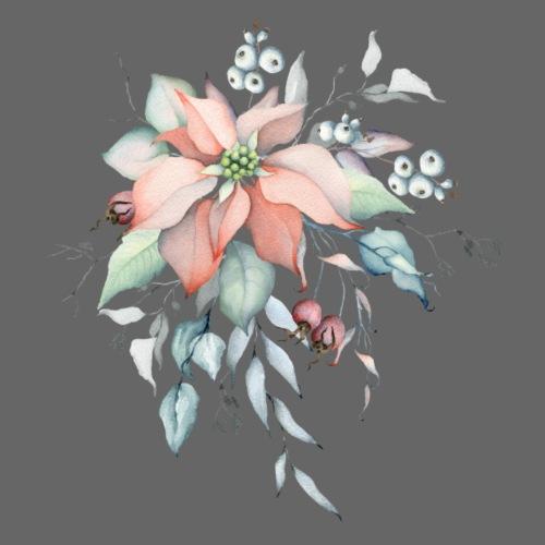 Christmas Flower Watercolor - Männer Premium T-Shirt