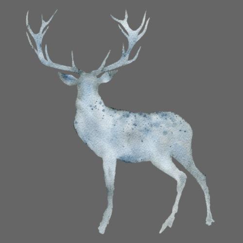 Watercolor standing Deer - Männer Premium T-Shirt