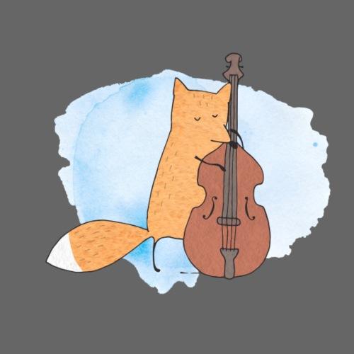 Fox with Cello - Männer Premium T-Shirt