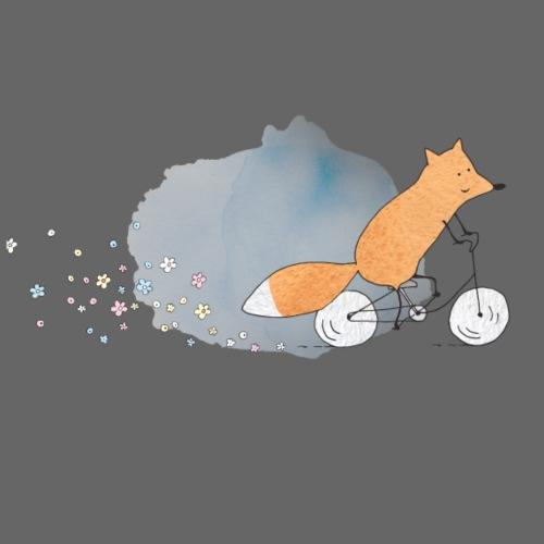 Fox on Bicycle - Männer Premium T-Shirt
