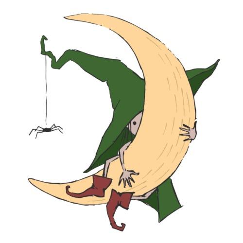 Green Witch at the Moon - Männer Premium T-Shirt