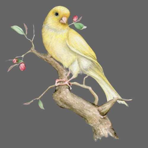 Yellow Bird at a Tree - Männer Premium T-Shirt