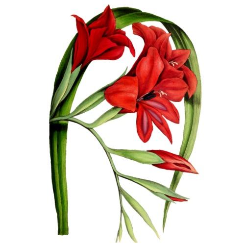 Red Vintage Flowers - Männer Premium T-Shirt