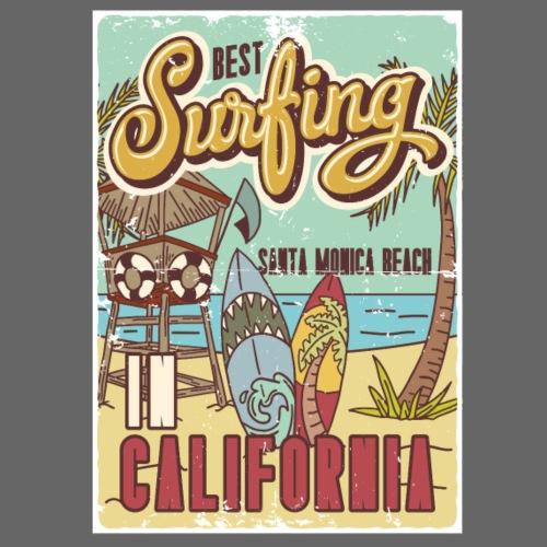 Best Surfing California - Männer Premium T-Shirt