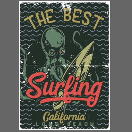 Best Surfing Octopus - Männer Premium T-Shirt