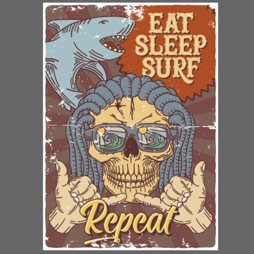 Eat Sleep Surf Repeat - Männer Premium T-Shirt