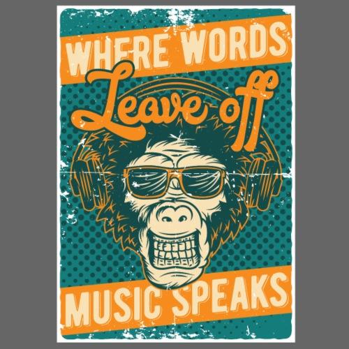 Music speaks - Männer Premium T-Shirt