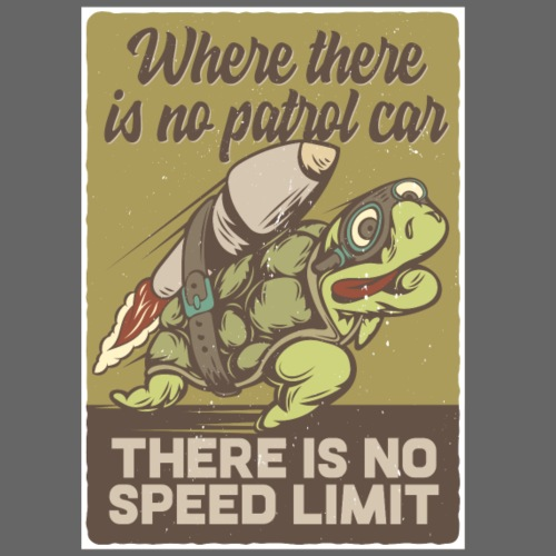 There is no speed Limit - Männer Premium T-Shirt