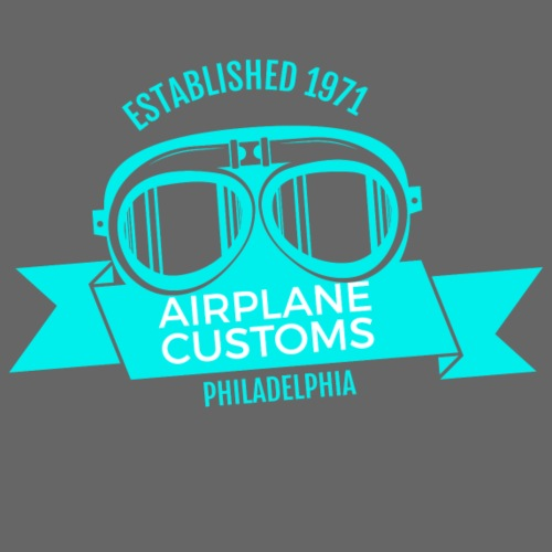 Airplane Customs turqoise - Männer Premium T-Shirt