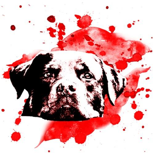 Rottweiler Watercolor red - Männer Premium T-Shirt