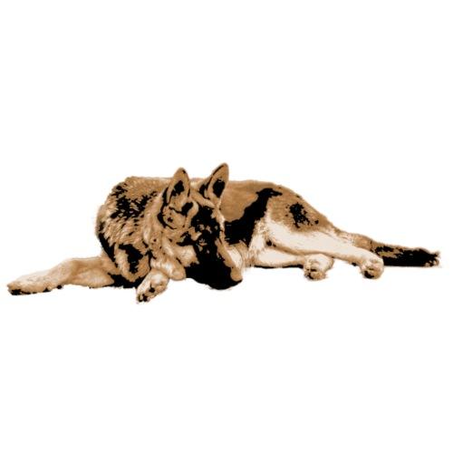 Schäferhund Sepia - Männer Premium T-Shirt