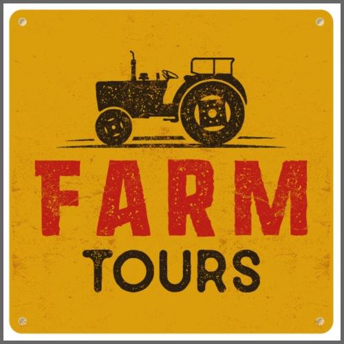 Farm Tours Poster - Männer Premium T-Shirt