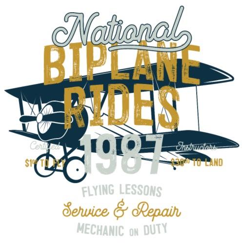 Biplane Rides - Männer Premium T-Shirt