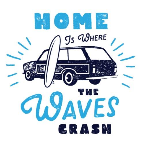 Home is where the Waves crash - Männer Premium T-Shirt