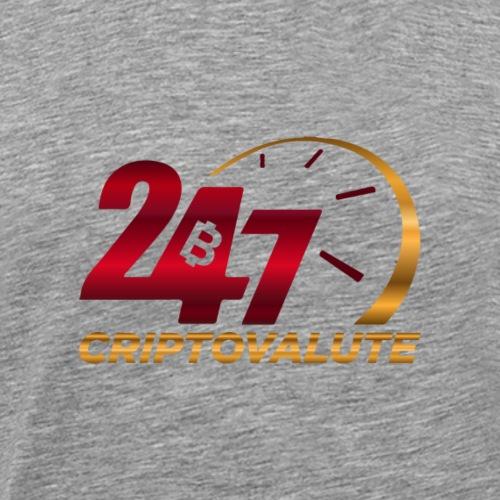 Criptovalute 247 Logo 1 - Maglietta Premium da uomo