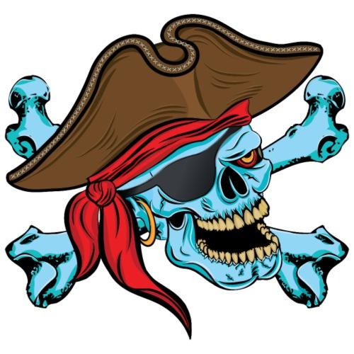 Pirate Skull and Crossbones - Men's Premium T-Shirt