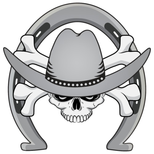 Cowboy Skull Horseshoe - Men's Premium T-Shirt
