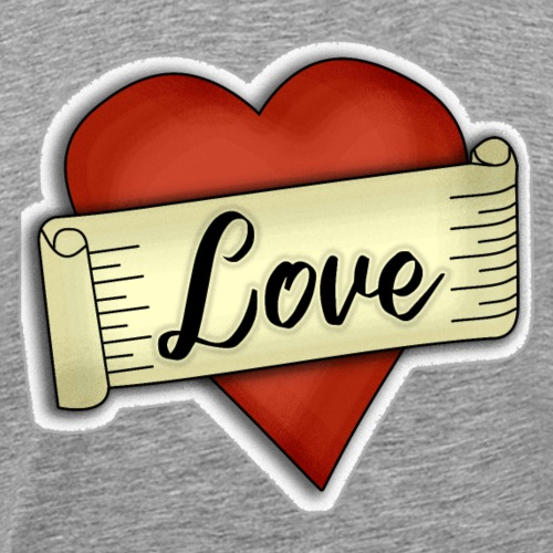 Love cœur tatouage - T-shirt Premium Homme