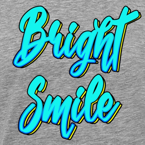 Bright smile bleu fluo - T-shirt Premium Homme