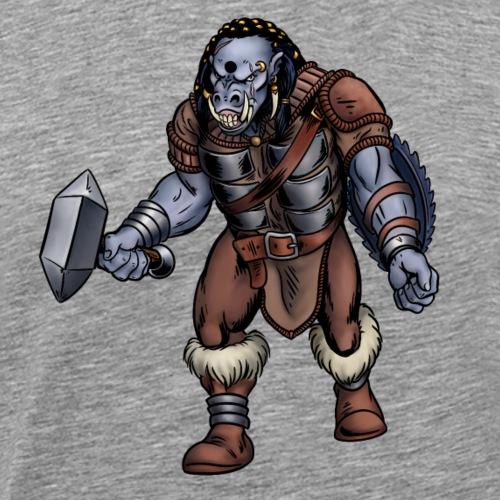 Troll with hammer - Men's Premium T-Shirt