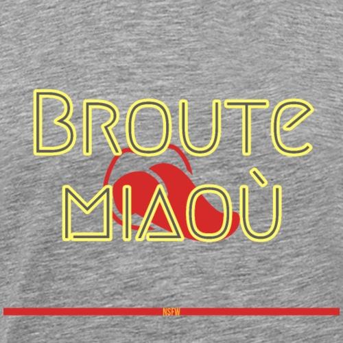 Broute miaoù - T-shirt Premium Homme
