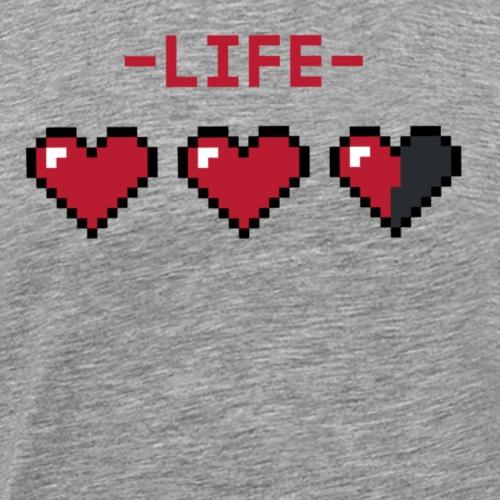 Die Zock Stube - Pixelherzen - Männer Premium T-Shirt