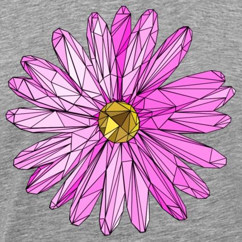 Blume rosa dreiecke polygon art - Männer Premium T-Shirt
