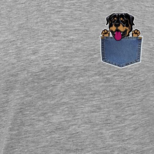 Pocket dog Rottweiler - Männer Premium T-Shirt