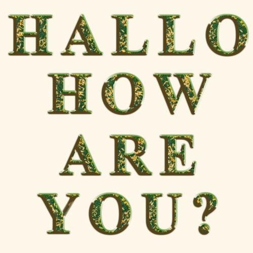 HALLO - Maglietta Premium da uomo