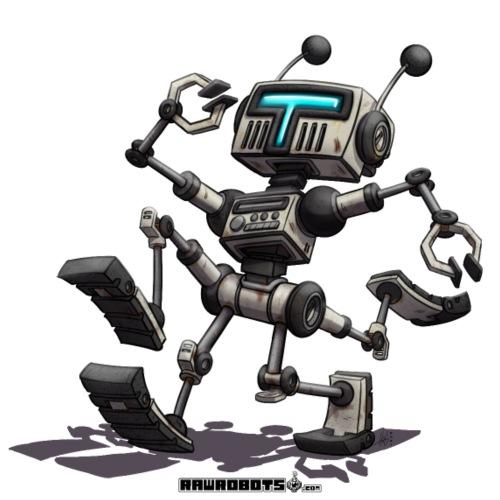 The R.U.N. Robot! (Running Utility Nanodroid) - Herre premium T-shirt